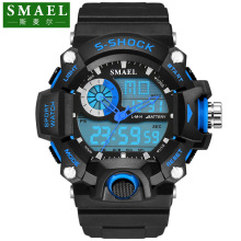 SMAEL G Style Shock Watch Digital Men Electronic Watch Sports Waterproof Male Clock LED Wristwatch Quartz-Digital Reloj PU Band цена