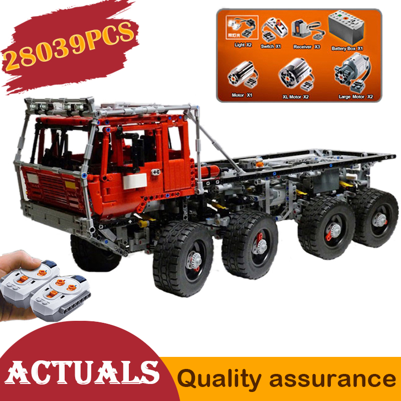 23012 Technic Tatra 813 Tow Truck Building Blocks Set Boy Gifts Compatible Lego MOC with Motor
