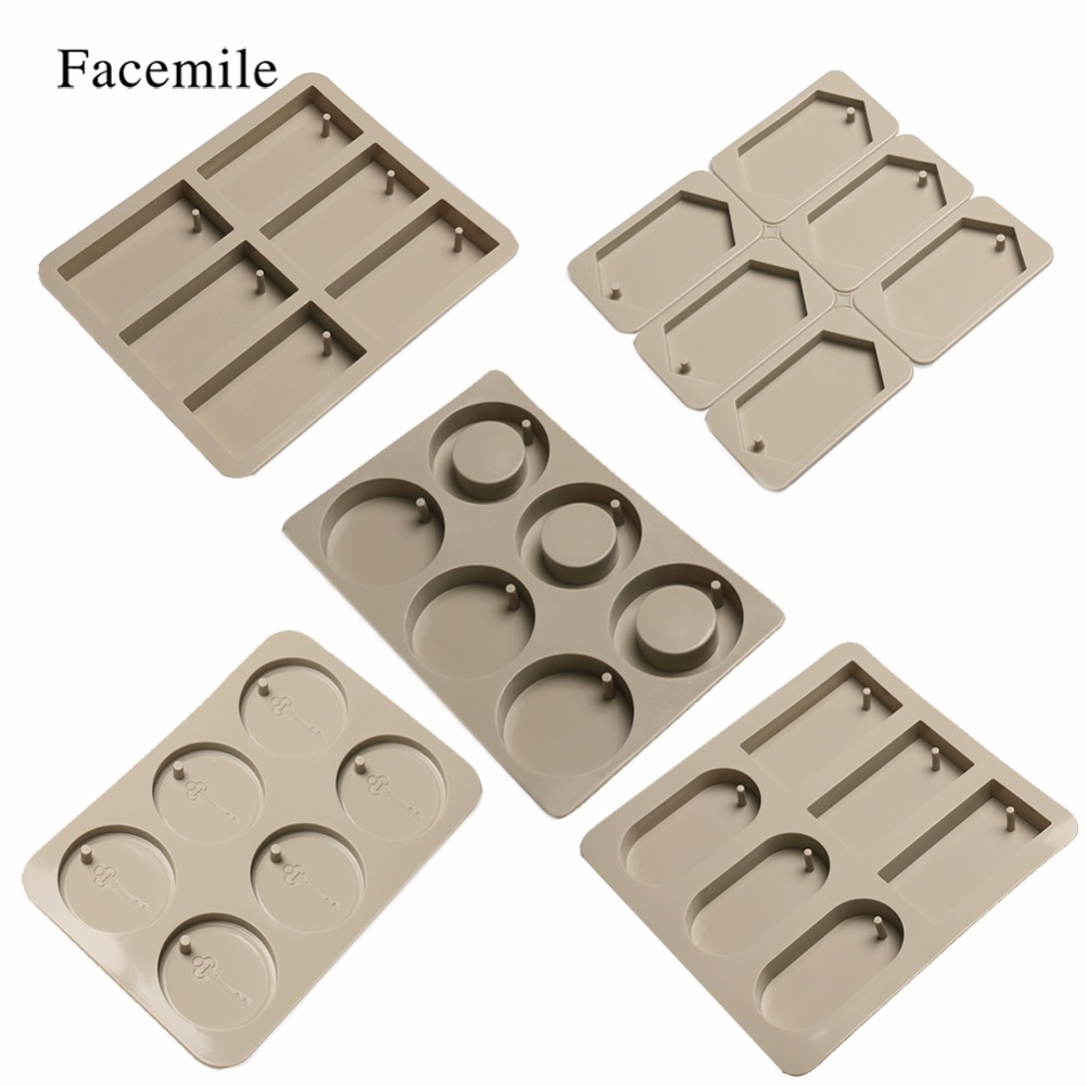 Facemile DIY Silicone Epoxy Mold For Aromatherapy Wax Tablets Chocolate Cookie Jelly Bakeware Home Baking Pan Cake Decor Tool