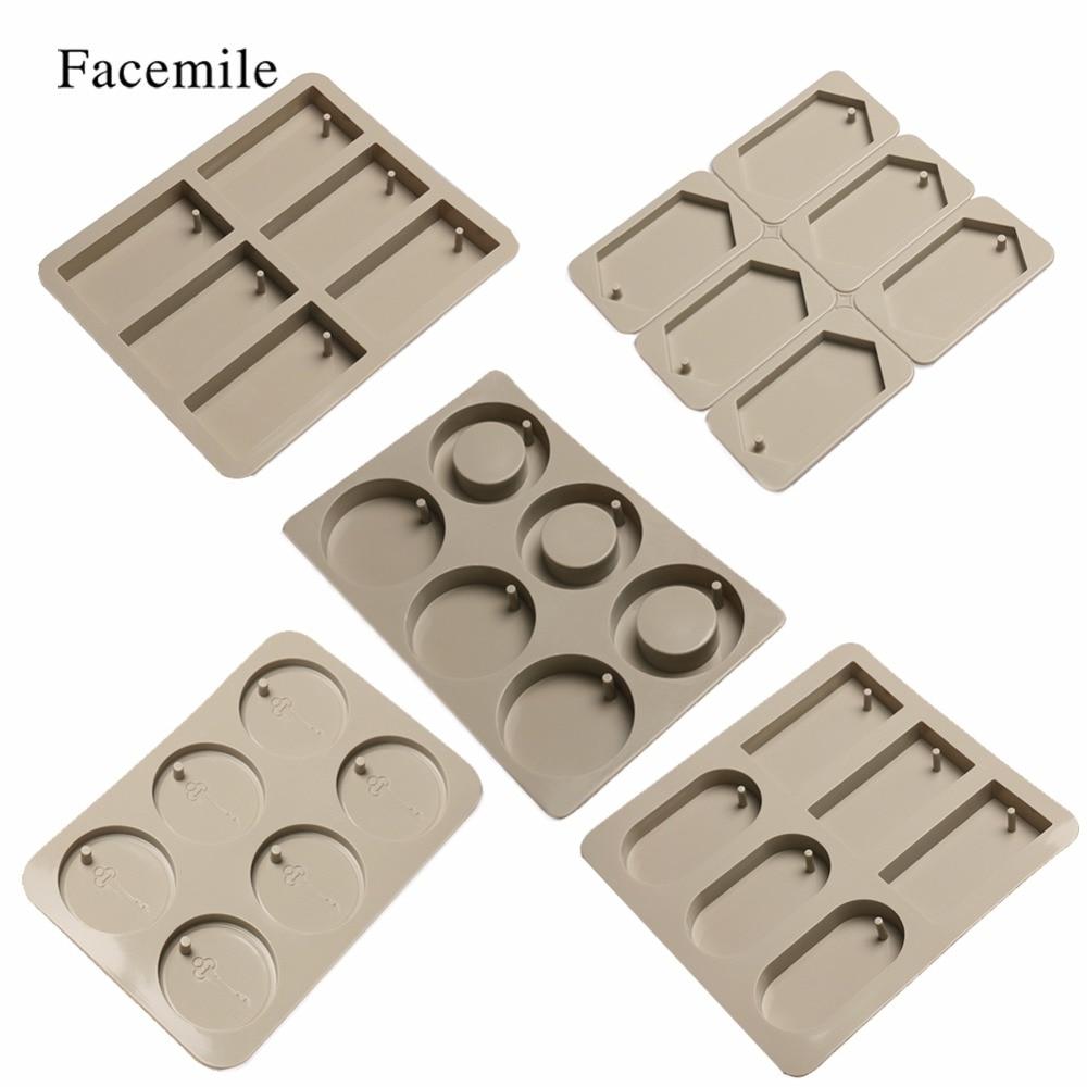 Facemile DIY Silikon Epoxy Form Für Aromatherapie Wachs Tabletten Schokolade Cookie Jelly Backformen Hause Backen Pan Kuchen Decor Werkzeug