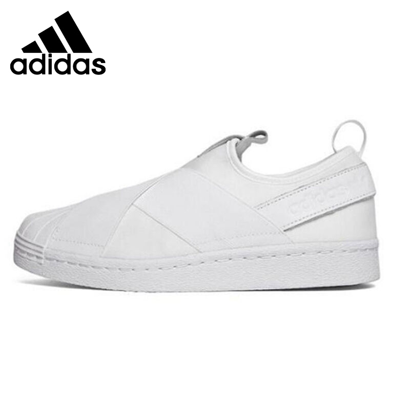 Original New Arrival 2016 Adidas Originals superstar slip on Women's Skateboarding Shoes Sneakers