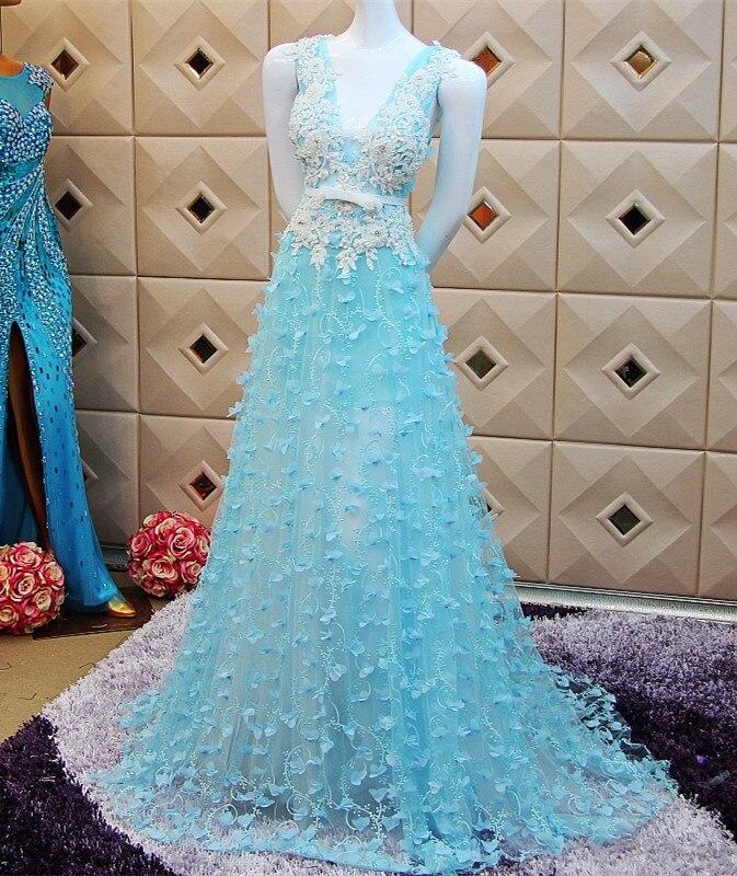 Custom Made 2015 New Beading Sequins A-line V-neck Backless   Evening     Dresses   Pregnant Lebanon hijab Long   Dress   Caftan Dubai XE28