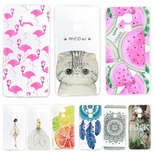 Phone Case sFor Huawei Honor 5C / Honor 7 Lite / GT3 Soft Silicon TPU Transparent Ultra Thin Cover Cute Cat Flamingo Fruit Cases