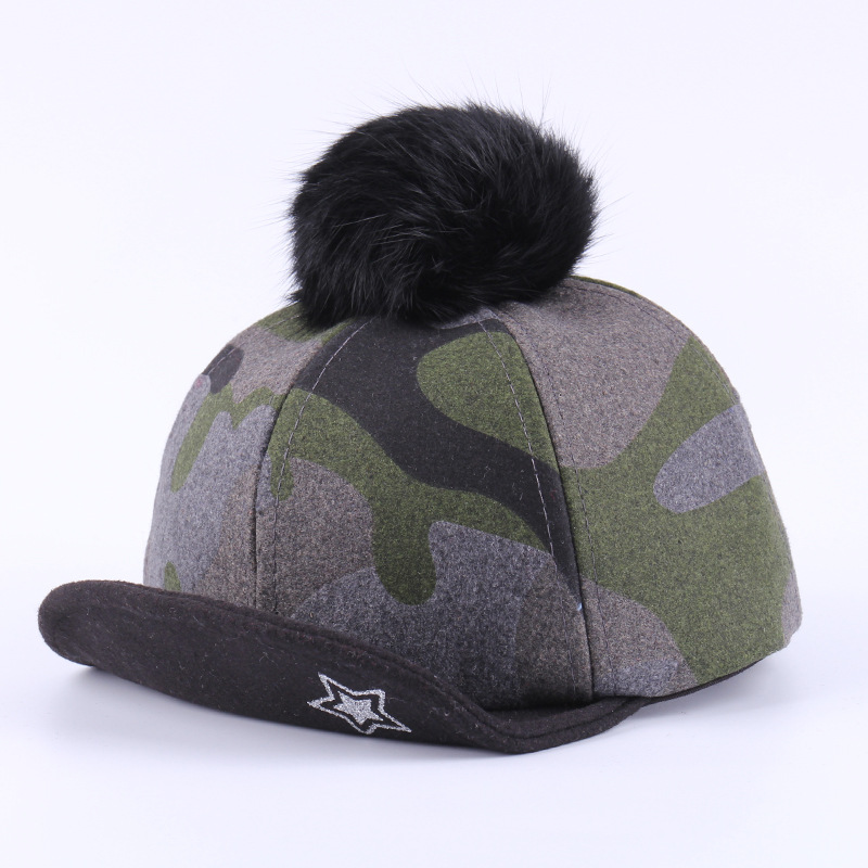 Camouflage Baby Cap Cotton Winter Kids Cap With Pompon Fashion Boys Girls  Warm Hat Star Autumn Baseball Cap Boys Clothing 1 3Y-in Hats   Caps from  Mother ... 9bf3e0d4b2a