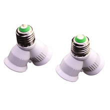 High Quality E27 To 2xe27 1 To 2 Y-shape Halogen Halogen Cfl Bulb Splitter Splitter Conversion Socket Extension