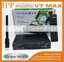 10 unids [Original] Freesat V7 Max con USB Wifi HD 1080 p Completa DVB-S2 TV Vía Satélite Receptor Apoyo Biss clave YouTube Set Top caja