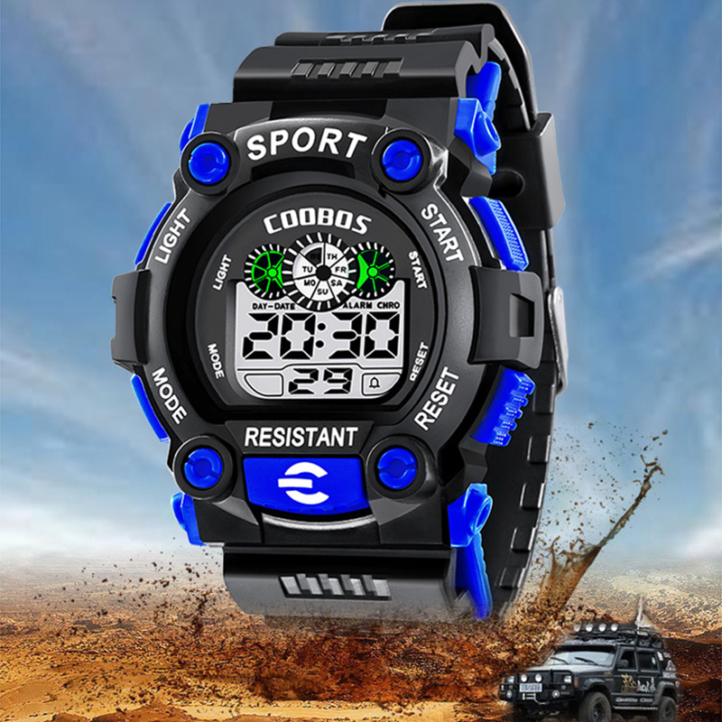 Kids Sports Watches Digital Wrist Watch For Children Boys Girls Waterproof Student Multi-function Alarm Watch Montre Enfant 2019