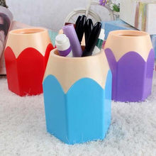 Makeup Brush Pencil Storage Box Vase Pot Holder Creative Stationery Office Tidy Storage Case 2018(China)