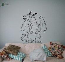 YOYOYU Vinyl Wall Decal Cute Cartoon Dinosaur Animal Magic World Kids Child Room Art Home Decoration Stickers FD534
