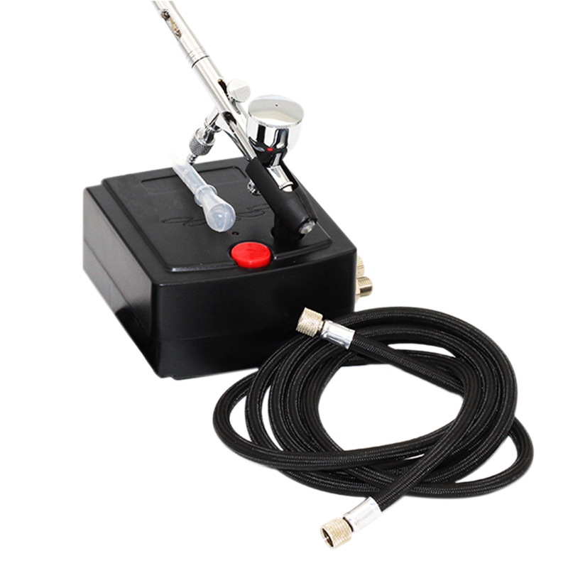 Dual Action Airbrush Air Compressor For Art Painting Manicure Craft Cake Spray Model Air Brush Nail Tool Set Spray Tool Us Plu