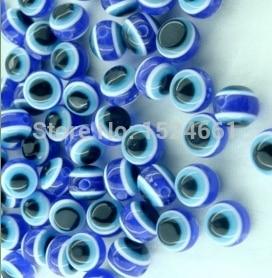 FLTMRH 8 шт. синий сглаза полосы круглые резиновые бусинки 10 мм украшения мм для тела alibaba талисманы Коренастый бусины Оптовая Ремесла Рождество