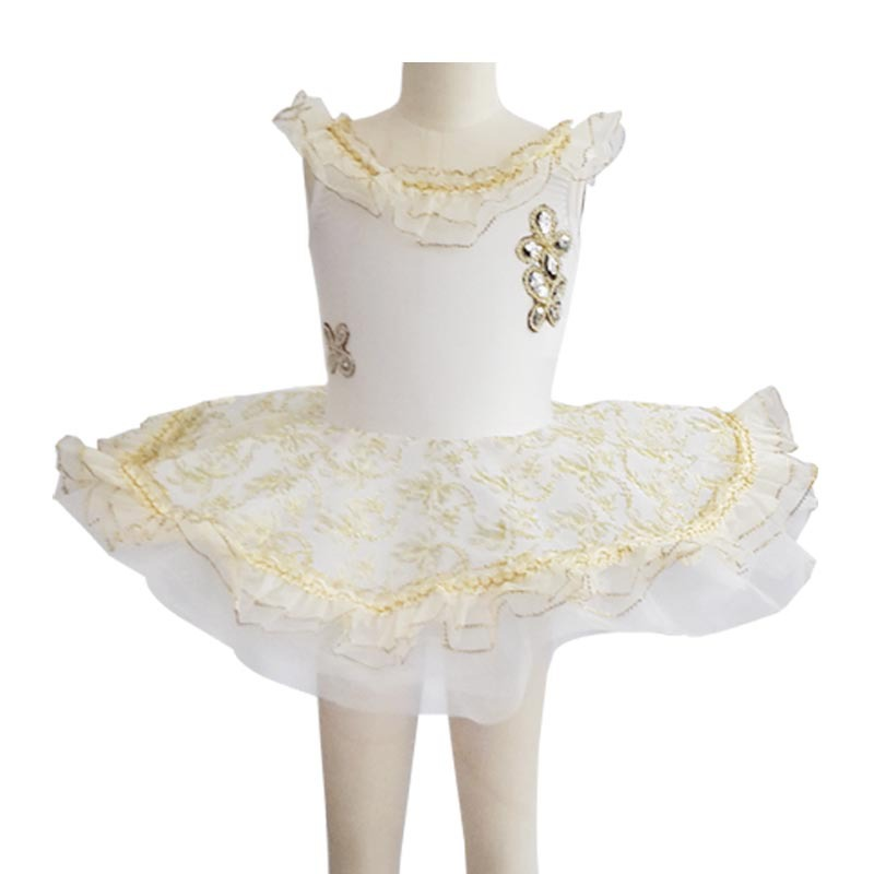 Lace Embroidery Platter Tutu Girls Dance Costume Kids Ballet Clothing Adult Leotard Classical Ballet Tutu Ballerina Costumes