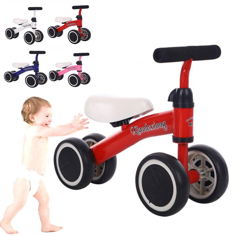 Bébé enfant en bas âge 1-3 ans enfant Tricycle vélo bébé Balance vélo apprendre à marcher obtenir l'équilibre sens pas de pédale équitation jouets pour enfants