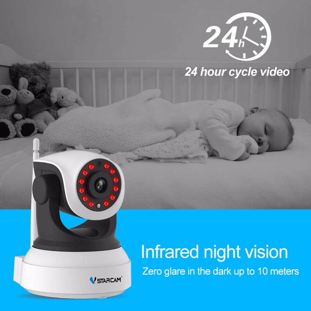VStarcam C7824WIP Wireless  Security IP Camera Wifi IR-Cut Night Vision Audio Recording Surveillance Network Indoor Baby Monitor fpv 1 2ghz 100mw 4ch wireless audio