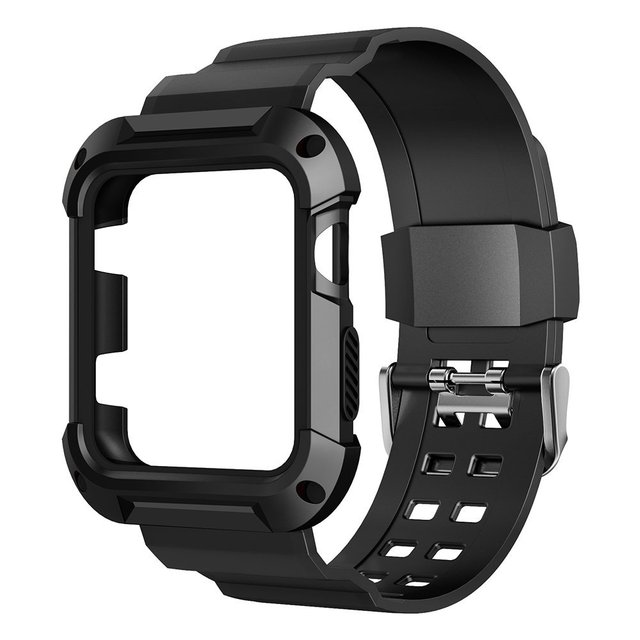 premium selection f3aa7 85739 US $8.28 10% OFF|Shockproof Slim Protective Frame Case with Strap Bands for  Apple Watch Series 1 2 Wristband Bracelect-in Watchbands from Watches on ...