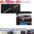 Free shipping For Hyunda1 Tucson 2015 2016 Rear back bumper trim car styling cover protection ABS Door Tail Gate license pedal