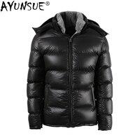 AYUNSUE 90% белая куртка на гусином пуху Мужская короткая зимняя куртка теплая пуховая куртка пуховики 2018 Doudoune Homme18H38 # KJ1090