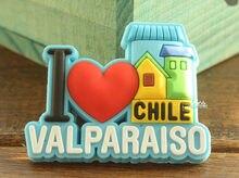 Я Люблю Чили, красочные Вальпараисо, туристические Путешествия Сувенир Резиновые Магнит На Холодильник ПОДАРОК