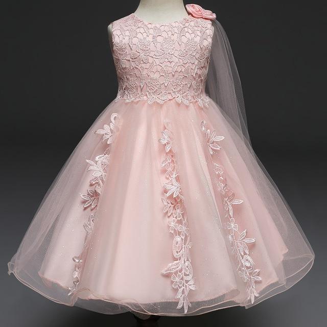 efb0da7e06 My Flower Princess 1 Year Girl baby Birthday Dress Infant Party Dresses Baby  Girl Clothing for Girls Baptism Christening Gown