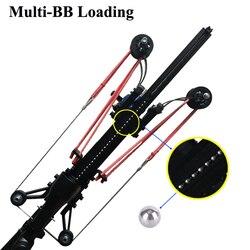 Полуавтоматическая Рогатка охотничий рыболовный лук мощная катапульта многофункциональная стальная шаровая стрела непрерывная стрельба ...
