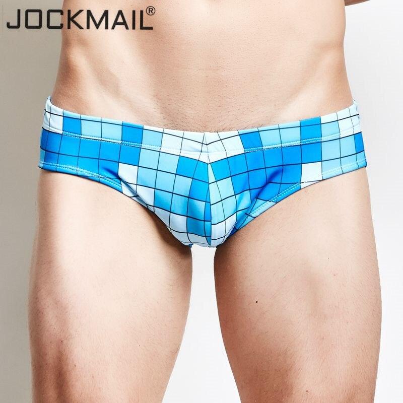 Buy JOCKMAIL Brand swimming  swim trunks sexy low waist swimming briefs swimwear boxers hot sell Summer