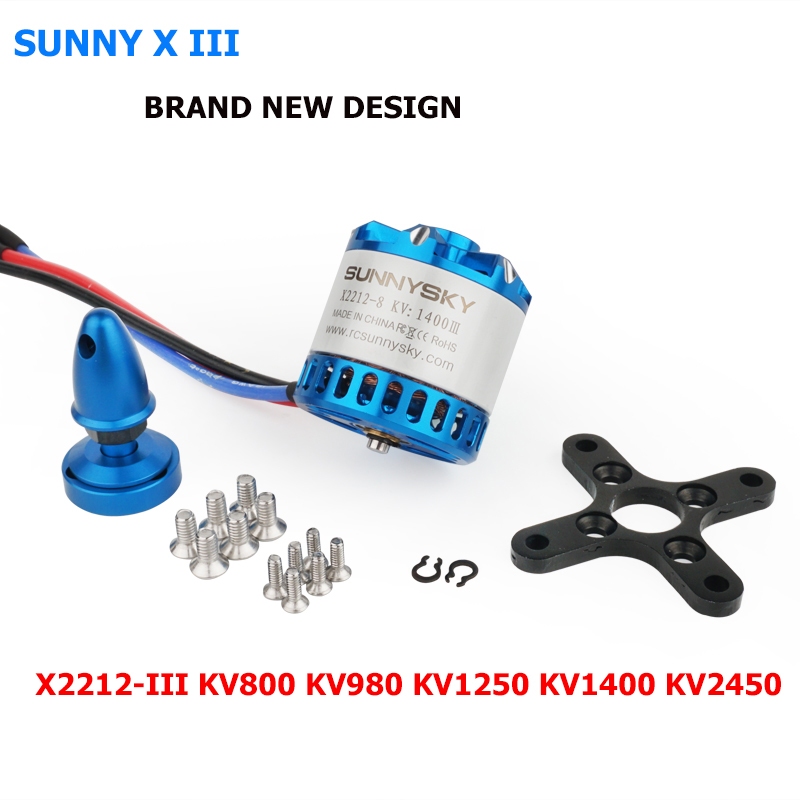 NEW SUNNYSKY X2212 III 980KV/1250KV/1400KV 3 4S Brushless Motor for FPV RC Racing Drone Airplanes Fixed Wing Plane Short Shaft