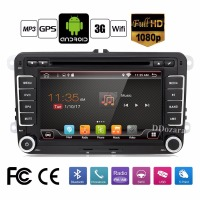 Pure Android Car DVD Quad Core 12G ROM 800 480 Screen Car Raio For VW Golf