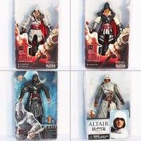 4pcs Lot 18cm Assassins Creed High Quality Toys ASSASSINS CREED EZIO PVC Action Figures Model Toy