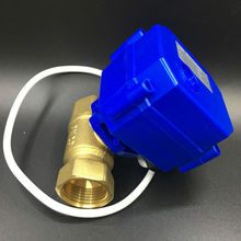 Shipping Free Hot Sales 12VDC 3 Control Wires Brass 3/4'' DN20 Electric Motorized Valve BSP Thread CR02 Wiring For Water Control
