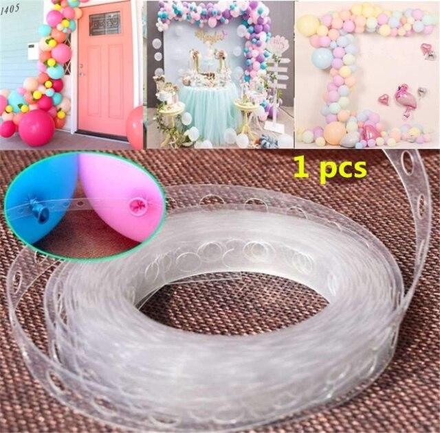Tira de decoración de globos DIY, cadena de conexión para celebración, cumpleaños, boda, decoración de Baby Shower, suministros para eventos y fiestas, 1 Uds.