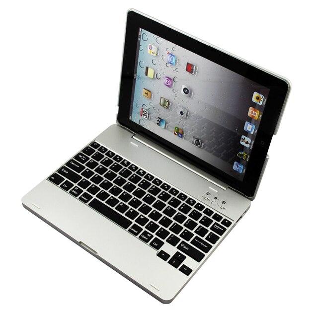 Luxury Wireless Bluetooth 3.0 Bàn Phím Sao Lưu Xây Dựng-in 4000 mah Battery Trường Hợp Che Với Stand Cho iPad 2 3 4 + Stylus