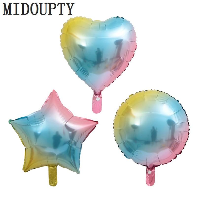 "18/"" FOIL Baby Blue Heart Helium Balloon-Fête 18 Balloons Star Round Birthday"