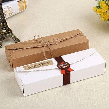 200pcs 23*7*4cm Cardboard Box Macaron Biscuit Pancake Packaging Kraft Paper Boxes Jewelry Cake Gift Boxes Free Shipping ZA3862