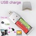 Portátiles usb cargador de batería universal aa/aaa ni-mh batería recargable de baterías de 3.7 v de potencia paquete al por menor envío gratis