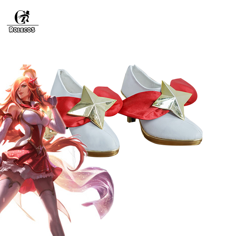 ROLECOS LOL Cosplay Shoes Guardian Miss Fortune Cosplay Shoes Women Shoes Miss Fortune Cosplay Shoes