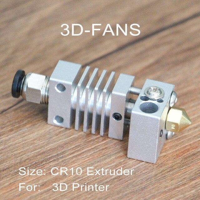 Nuevo CR10 salida Hotend extrusora de larga distancia de aleación de titanio de calor térmico romper la garganta 1,75mm para Creality CR10 3D impresora Micro suiza