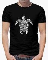 Yaz Saati sınırlı erkekler t shirt Tribal Turtles kısa O boyun Moda Örme hip hop mens Altı renkler