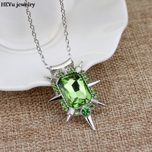 Wholesale Fashion Jewelry Crystal Charm Once upon a time wicked witch Zelina Glinda necklace for Women Girls Party Accessories