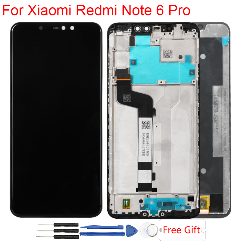 Original LCD For Xiaomi Redmi Note 6 Pro LCD Display With Frame Touch Screen Assembly Replacement Display Redmi Note 6 ProOriginal LCD For Xiaomi Redmi Note 6 Pro LCD Display With Frame Touch Screen Assembly Replacement Display Redmi Note 6 Pro