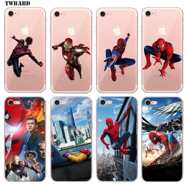 buy popular 61939 715b4 US $2.68 |Spiderman Cover Case For Fundas iPhone 6S Plus 6 Plus Cool  Superhero Deadpool for coque iPhone 6S Plus back cover-in Fitted Cases from  ...