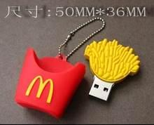 Chaud Mcdonald frites usb2.0 usb lecteur flash filles cadeau 64g usb lecteur flash 32g usb lecteur flash 16g dessin animé cadeau LOGO personnalisé