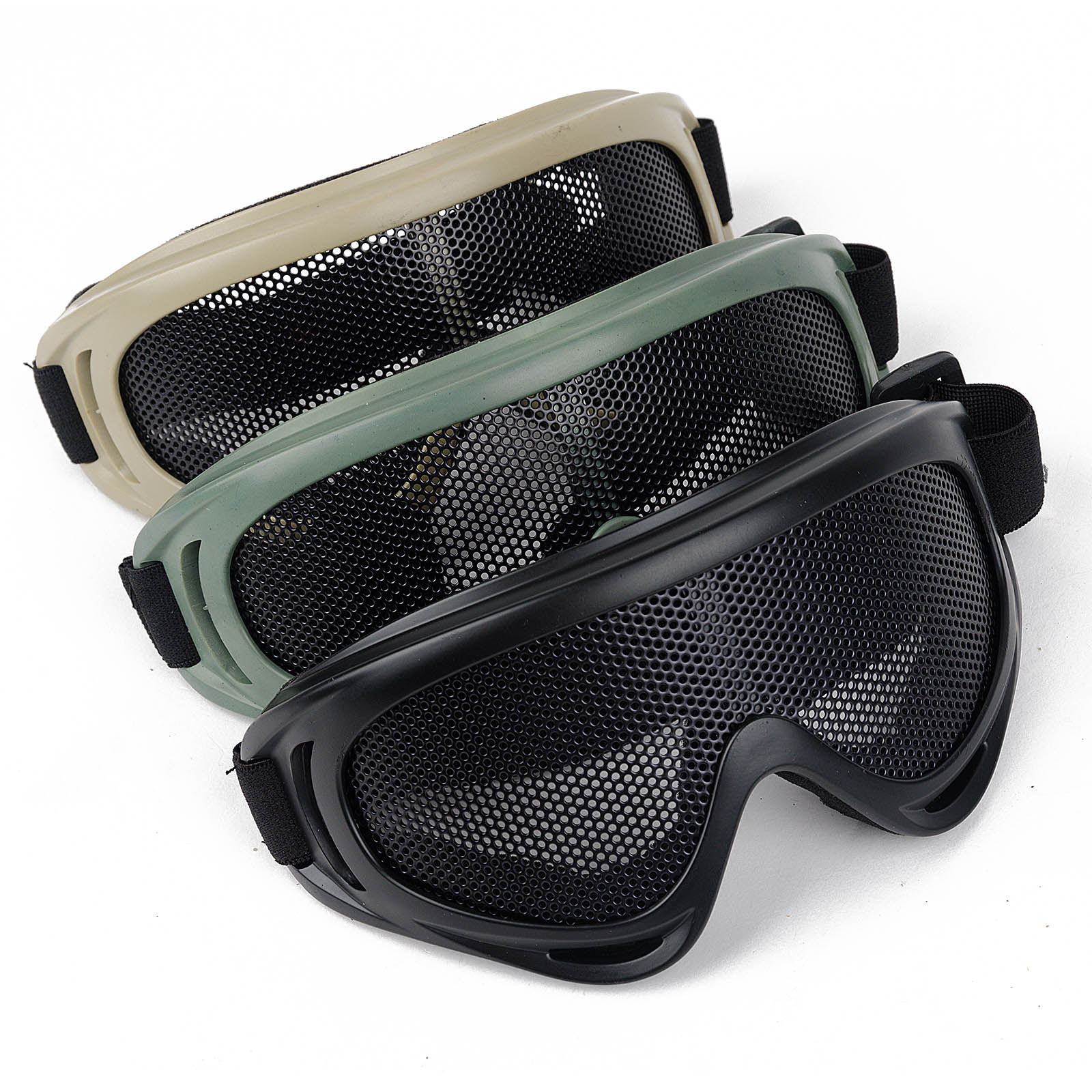 Outdoor Eye Protective Comfortable Airsoft Safety Tactical Eye Protection Metal Mesh Glasses Goggle 3Color