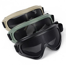 Outdoor Eye Protective Comfortable Airsoft Safety Tactical Protection Metal Mesh Glasses Goggle 3Color