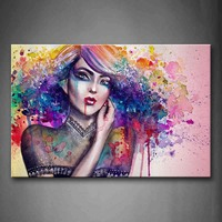 Unframed Wall Art Pictures Woman Hair Canvas Print Modern People Posters Without Frame For Living Room Home Office Decor