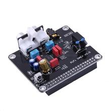 Pcm5122 hi fi dac módulo de placa de som, i2s 384khz com indicador de led para raspberry pi b + para raspberry pi 2 modelo b