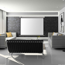 Full HD Electric Projection Screen 150 Inch With Remote Control 16:9 Motorized Wall Mount Projector Screens For 3D Cinema Office