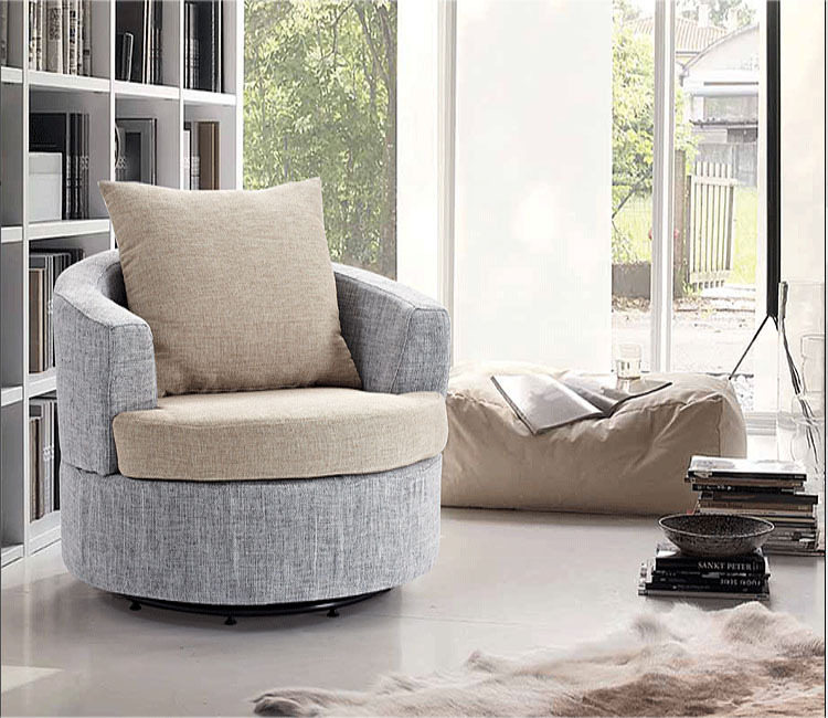 Simple Fashion Fabric Armchair Small Apartment Living Room Corner Cafe  Casual Chairs Small Sofa Retro Flavor In Office Sofas From Furniture On ...