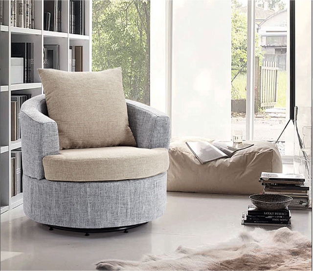 Simple Fashion Fabric Armchair Small Apartment Living Room Corner Cafe Casual Chairs Sofa Retro Flavor