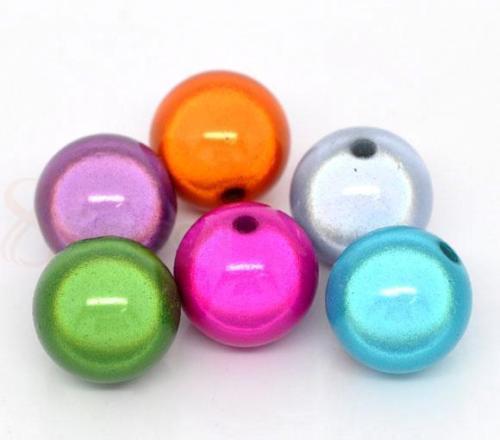 Kwoi Vita оптовая продажа чудесные акриловые бусины для браслетов из бисера Цепочки и ожерелья ювелирные изделия из жемчуга 4 мм до 30 мм в наличи...