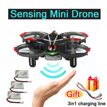 Mini Gesture Sensing RC Quadcopter with Headless Mode/Altitude Hold Quadrocopter For Kids Best Gift Interactive Drone Toys(China)